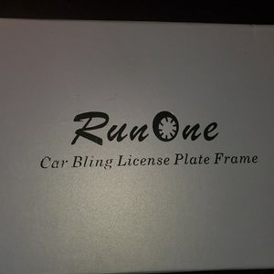 Run one red Car license plate bling